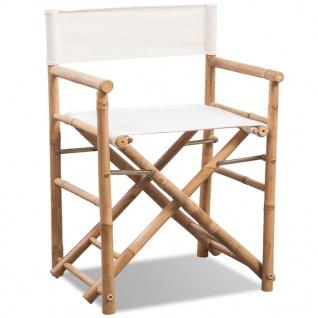vidaXL Klappbarer Regiestuhl 2 Stk. Bambus und Canvas