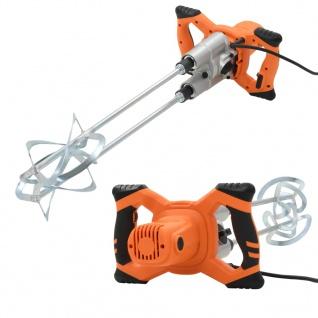 vidaXL Elektro Hand Betonmischer 6 Geschwindigkeit Doppelpaddel 1600W