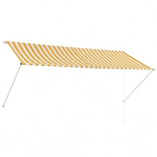 vidaXL Einziehbare Markise Gelb und Weiß 300 x 150 cm