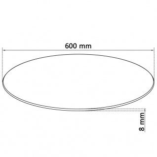 vidaXL Tischplatte aus gehärtetem Glas rund 600 mm - Vorschau 4