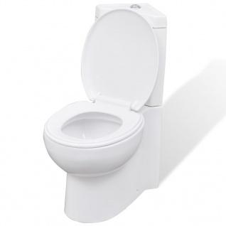 Keramik WC Toilette Ecke Weiß