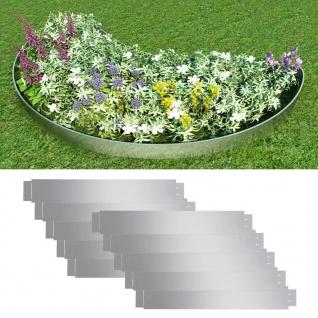 Flexible Rasenkante 10-er Set 100x15 cm Verzinkter Stahl