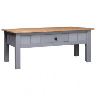 vidaXL Couchtisch Grau 100 x 60 x 45 cm Massivholz Panama-Kiefer