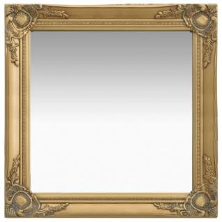 vidaXL Wandspiegel im Barock-Stil 60 x 60 cm Golden