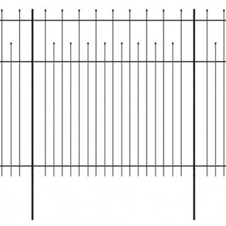 vidaXL Dekorativer Sicherheits-Palisadenzaun Stahl 600×200 cm