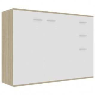 vidaXL Sideboard Weiß Sonoma-Eiche 105 x 30 x 75 cm Spanplatte - Vorschau 2