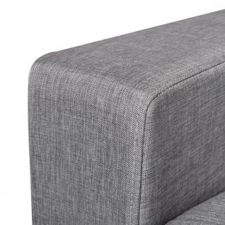 vidaXL Sofa 2-Sitzer Stoff Hellgrau - Vorschau 3