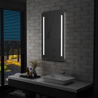 vidaXL Badezimmer-LED-Wandspiegel mit Regal 60×100 cm