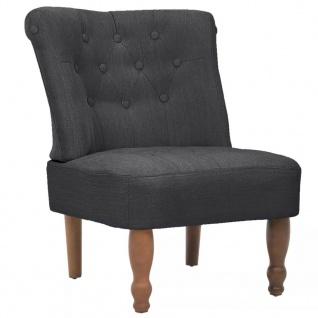 vidaXL Französische Sessel 2 Stk. Grau Stoff - Vorschau 4