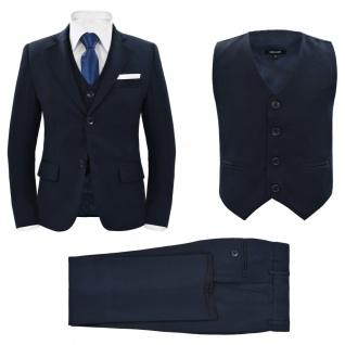 vidaXL Jungen-Anzug 3-tlg. Größe 104/110 Marineblau