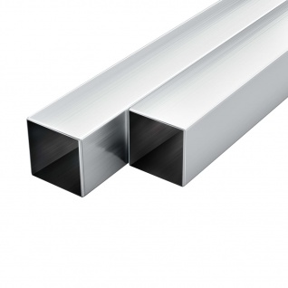 vidaXL Aluminium-Vierkantrohre 6 Stk. Quadratisch 1 m 40x40x2 mm