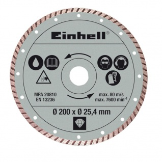 Einhell Turbo Trennscheibe 200x25, 4mm für RT-TC 520 U und TE-TC 620 U