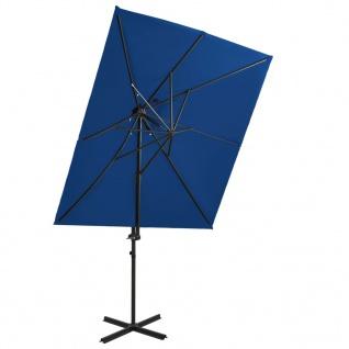 vidaXL Ampelschirm mit Lüftung Azurblau 250x250 cm