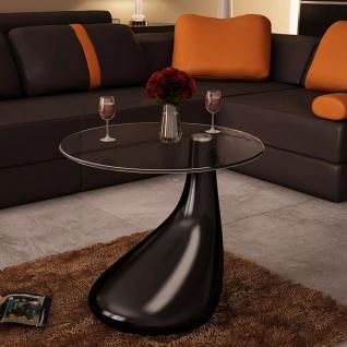 Design Couchtisch schwarz Beistelltisch Glas Tisch Glastisch