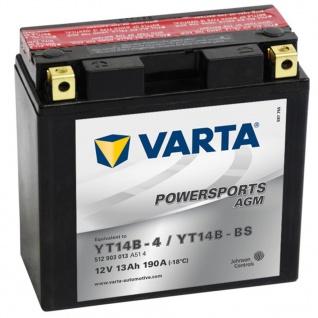Varta AGM Batterie 12 V 13 Ah YT14B-4 / YT14B-BS