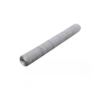 vidaXL Maschendraht Verzinkter Stahl 25×0, 5 m Silbern - Vorschau 2