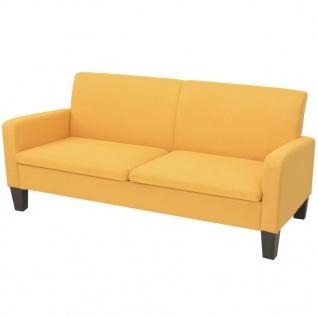vidaXL 3-Sitzersofa 180 x 65 x76 cm Gelb