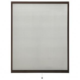 vidaXL Insektenschutzrollo für Fenster Braun 150x170 cm