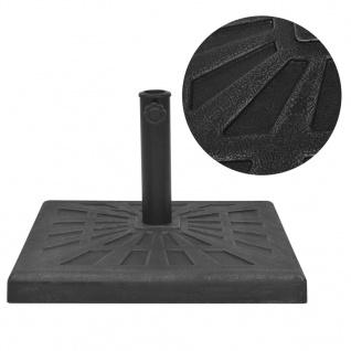 vidaXL Sonnenschirmständer Quadratisch Schwarz 12 kg