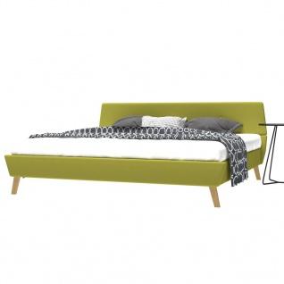 vidaXL Bett mit Memory-Schaum-Matratze 180 x 200 cm Stoff Grün