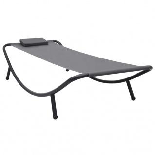 vidaXL Gartenbett Grau 200×90 cm Stahl
