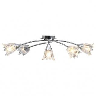 vidaXL Deckenleuchte mit Glasschirmen für 5 E14 Glühlampen