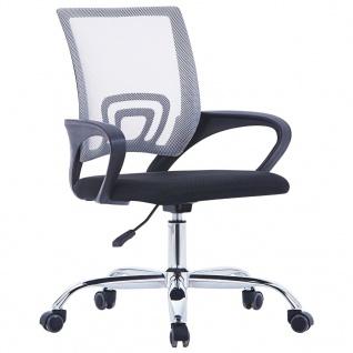 vidaXL Bürostuhl mit Netzrückenlehne Grau Stoff