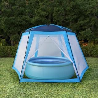 vidaXL Poolzelt Stoff 660 x 580 x 250 cm Blau