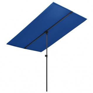 vidaXL Sonnenschirm mit Aluminium-Mast 2x1, 5 m Azurblau