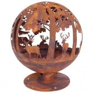 Esschert Design Feuerball Laser-geschnitten 57, 5x57, 5x66 cm Rost-Optik FF261