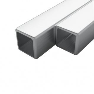 vidaXL Edelstahlrohre 2 Stk. Quadrat Kastenprofil V2A 1m 15x15x1, 5mm