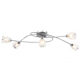 vidaXL Deckenleuchte mit Glas-Lampenschirmen für 5 G9-Leuchtmittel