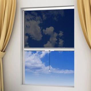 Weißes aufrollbares Insektengitter für Fenster 60 x 150 cm