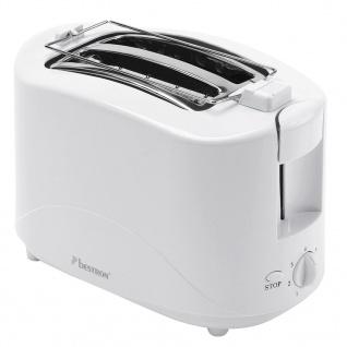 Bestron Toaster mit Brötchenwärmer AYT600 750 W Weiß - Vorschau 2
