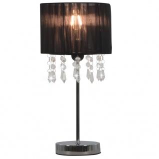 vidaXL Schreibtischlampe Schwarz Rund E27