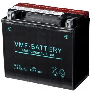 VMF Powersport Liquifix Batterie 12 V 18 Ah MF YTX20L-BS