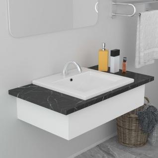 vidaXL Einbauwaschbecken 42x39x18 cm Keramik Weiß