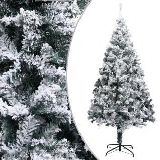 vidaXL Künstlicher Weihnachtsbaum Beschneit Grün 210 cm PVC