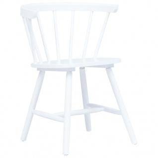vidaXL Esszimmerstühle 2 Stk. Weiß Gummiholz Massiv - Vorschau 2