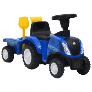 vidaXL Kindertraktor New Holland Blau