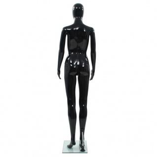 vidaXL Weibliche Schaufensterpuppe mit Glassockel Schwarz 175 cm - Vorschau 5