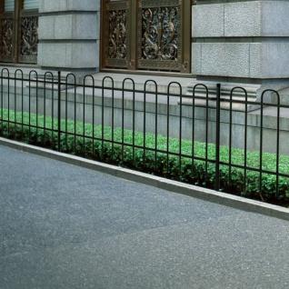 Dekorativer Zaun Gartenzaun Stahl schwarz Bügelform 120 cm