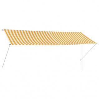 vidaXL Einziehbare Markise Gelb und Weiß 350 x 150 cm