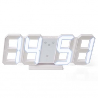 Perel 3D-LED-Uhr Weiß