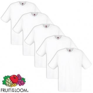 5 x Fruit of the Loom Original T-Shirt 100% Baumwolle Weiß XXL