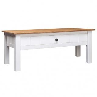 vidaXL Couchtisch Weiß 100 x 60 x 45 cm Massivholz Panama-Kiefer