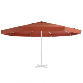 vidaXL Ersatzbezug für Sonnenschirm Terracotta-Rot 500 cm