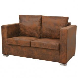 vidaXL 2-Sitzer Sofa 137 x 73 x 82 cm Künstliches Wildleder