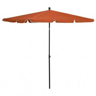 vidaXL Sonnenschirm mit Mast 210x140 cm Terracotta-Rot