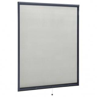 vidaXL Insektenschutzrollo für Fenster Anthrazit 140x170 cm